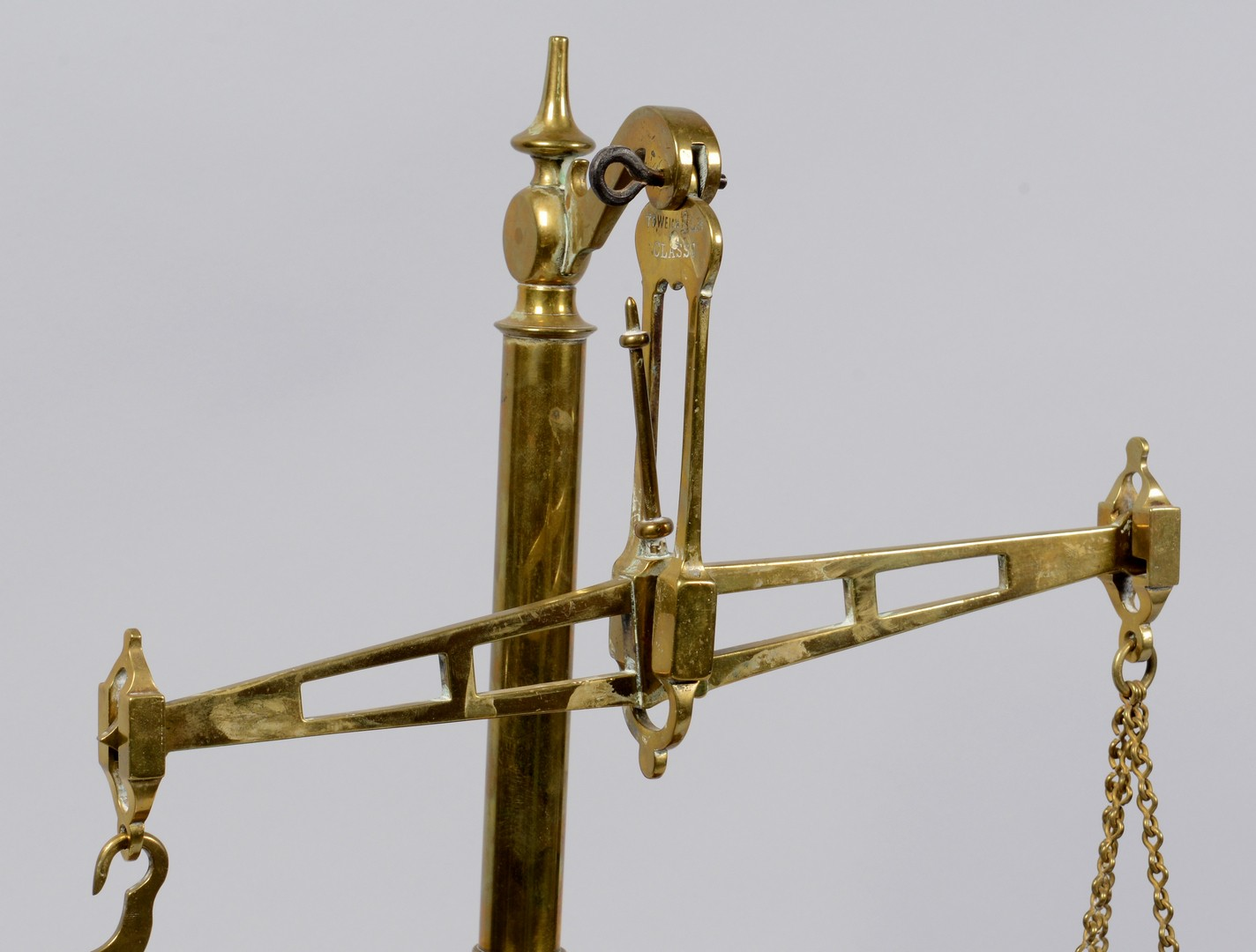 Lot 158: Bartlett Brass Scales w/ Lap Desks