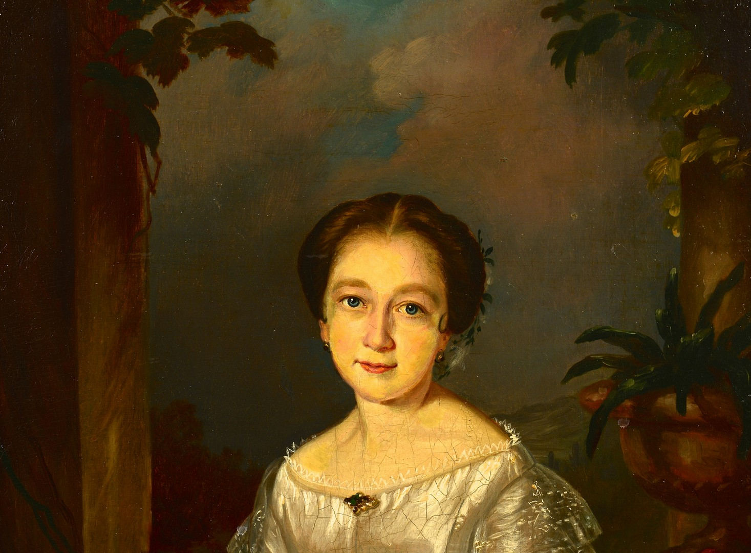 Lot 168: Southern School, 19th c. Portrait of a Lady