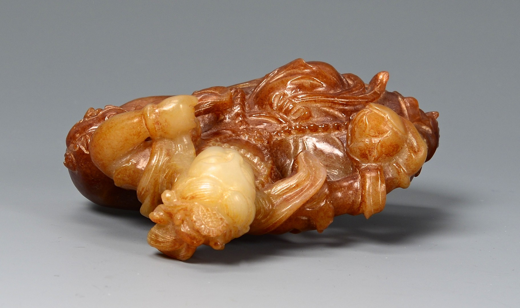 Lot 16: Chinese Jade Figural Buddha Carving