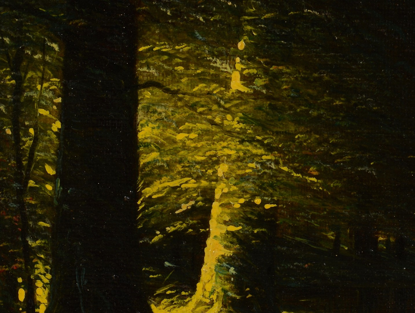 Lot 170: Attr. Harvey Joiner Oil with 2 Trees