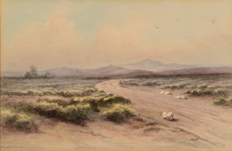 Lot 172: Maria Howard Weeden, watercolor landscape