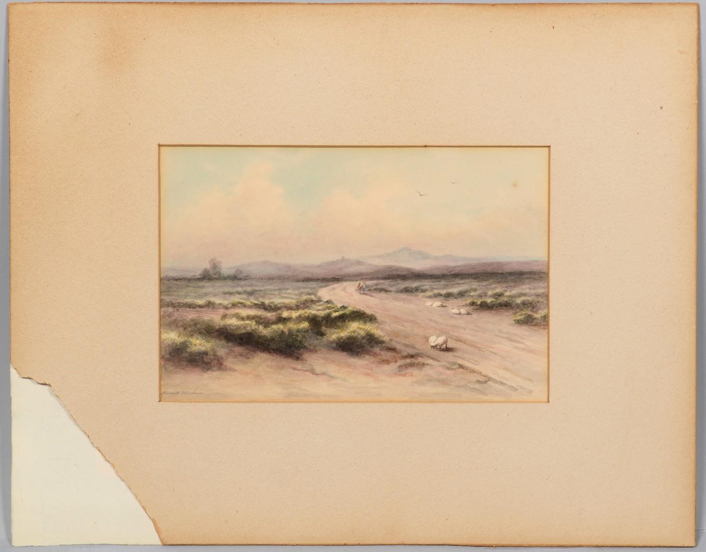 Lot 172: Maria Howard Weeden, watercolor landscape