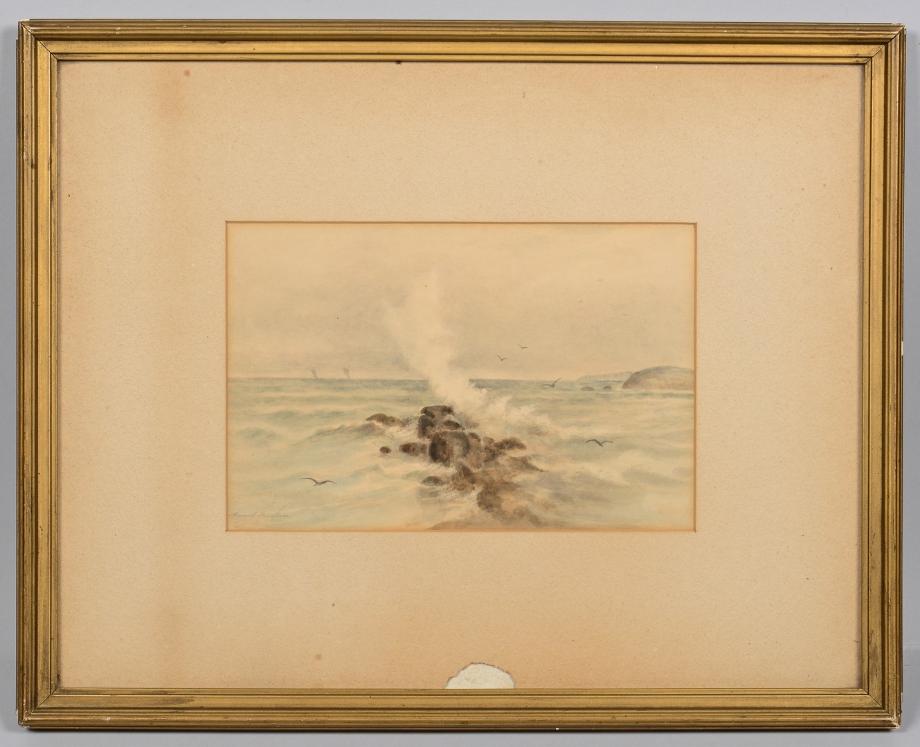 Lot 173: Maria Howard Weeden, Watercolor Seascape
