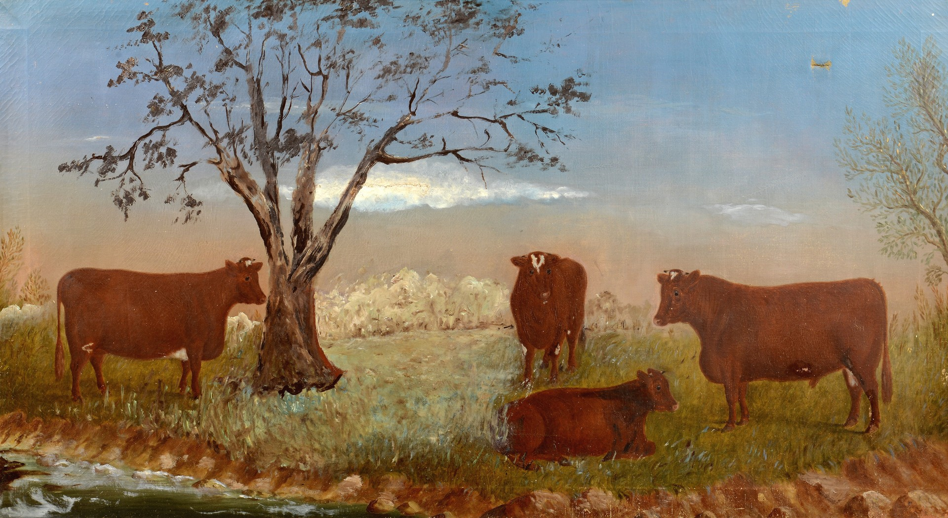 Lot 174: Kentucky Oil on Canvas, Wilhelm T. Eilerts