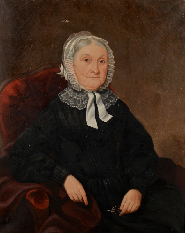 Lot 176: Attr. Washington Cooper, portrait of Mary A.G. Owe