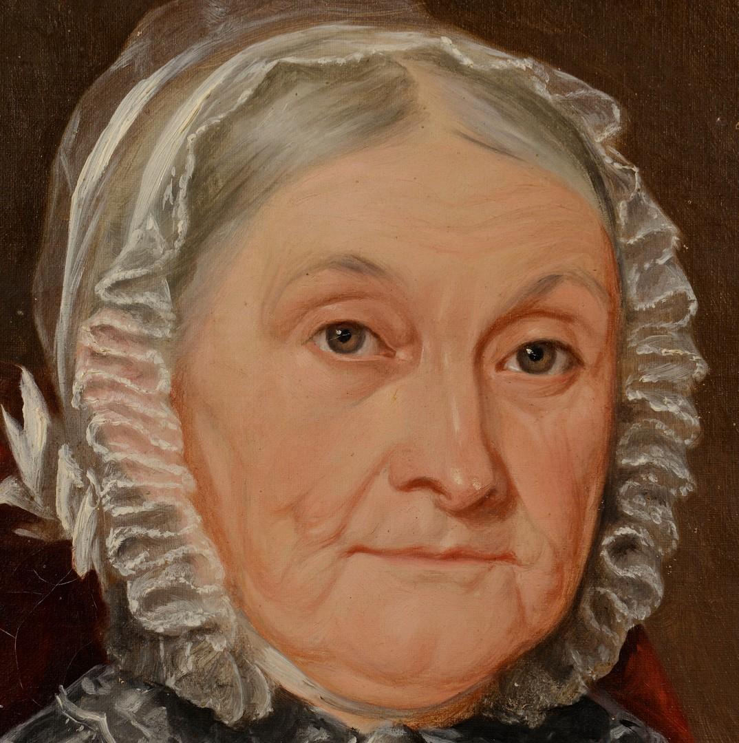 Lot 176: Attr. Washington Cooper, portrait of Mary A.G. Owe
