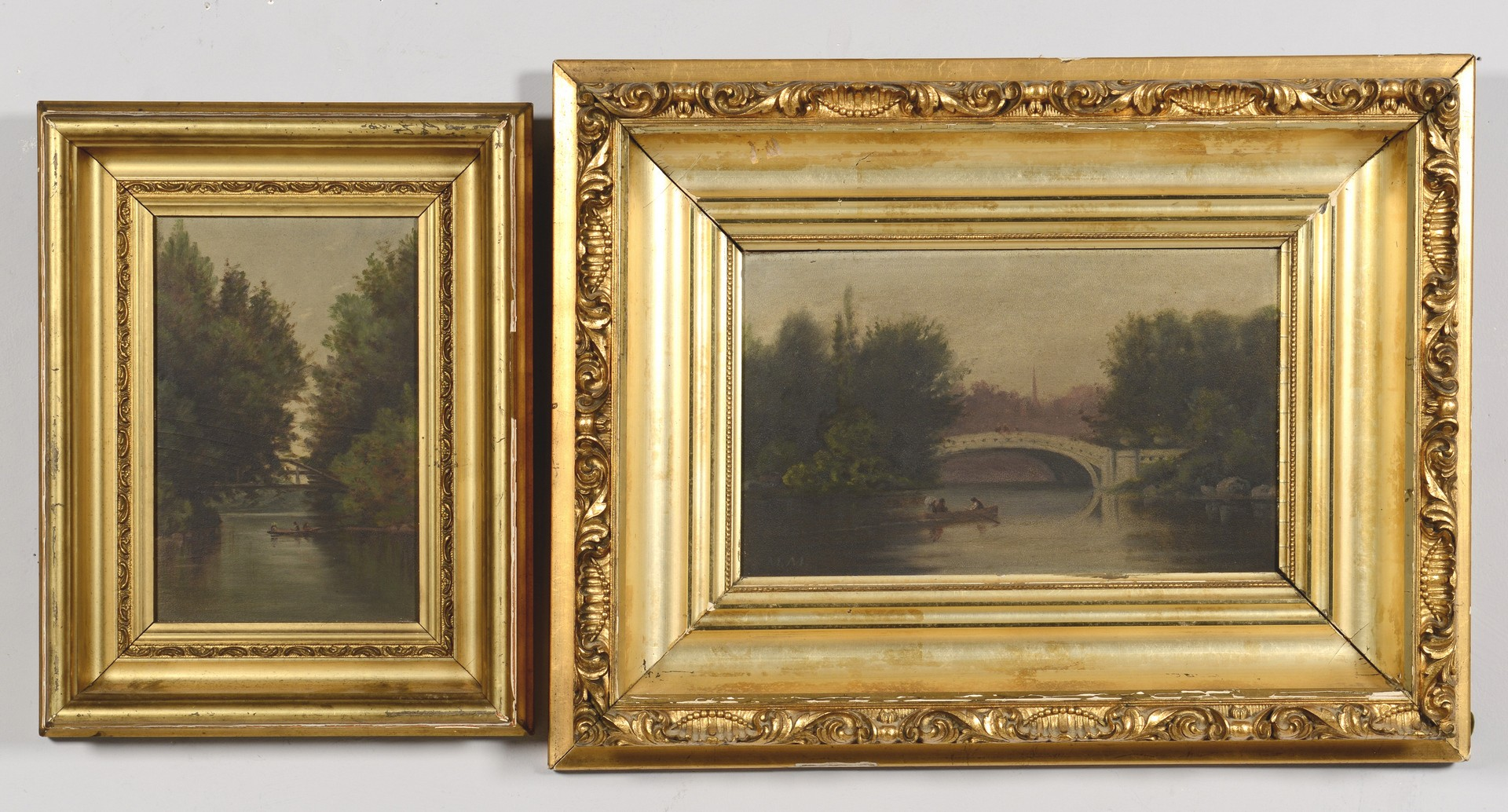 Lot 177: 2 Landscape Oils on Board, Attr. Thomas Campbell