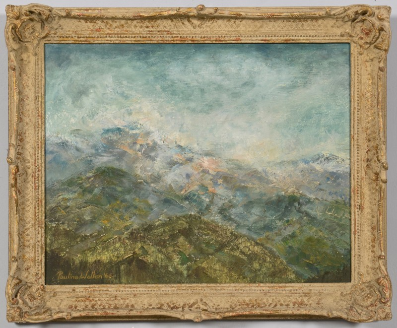 Lot 178: Pauline Wallen, oil on canvas, Smokey Mtns