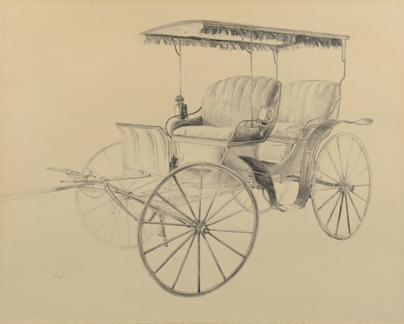 Lot 180: John Chumley, TN, Drawing of Carriage