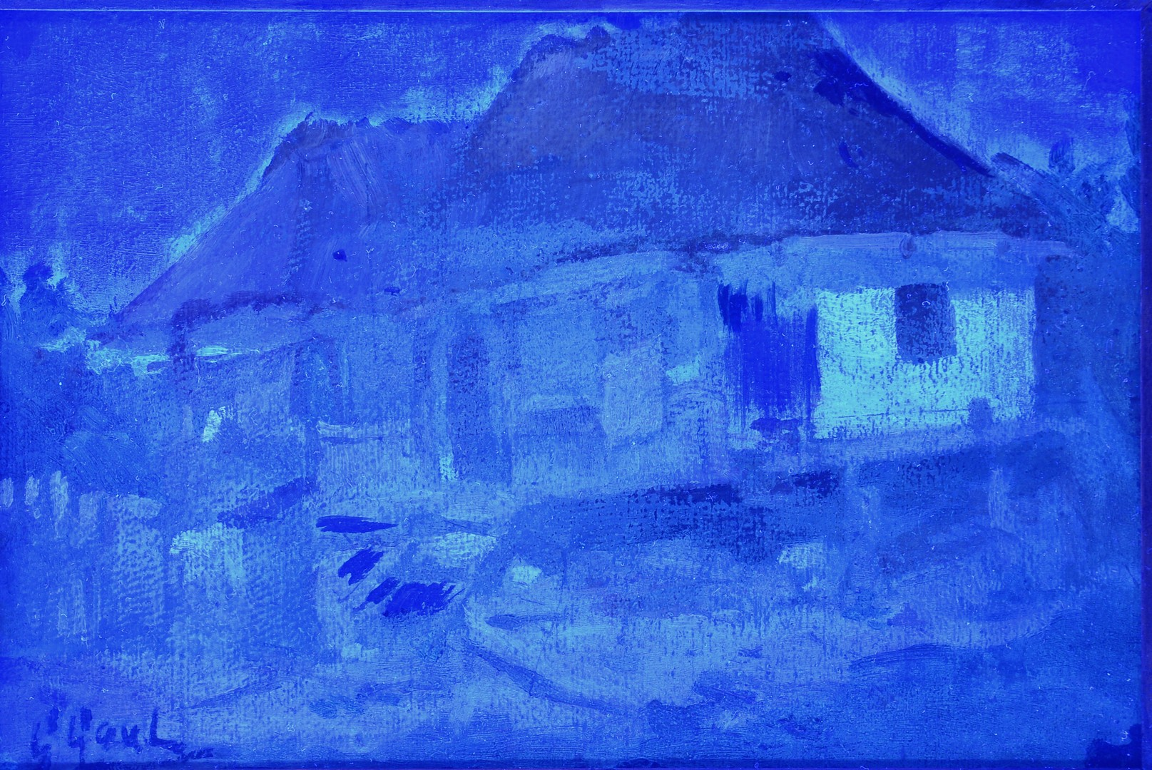 Lot 181: Gilbert Gaul oil, French Colonial Cottage