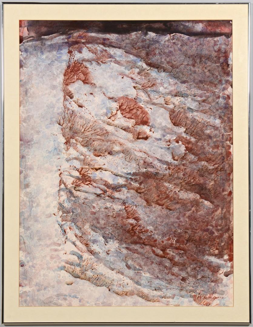 Lot 187: Carl Sublett, Frozen Series, large w/c