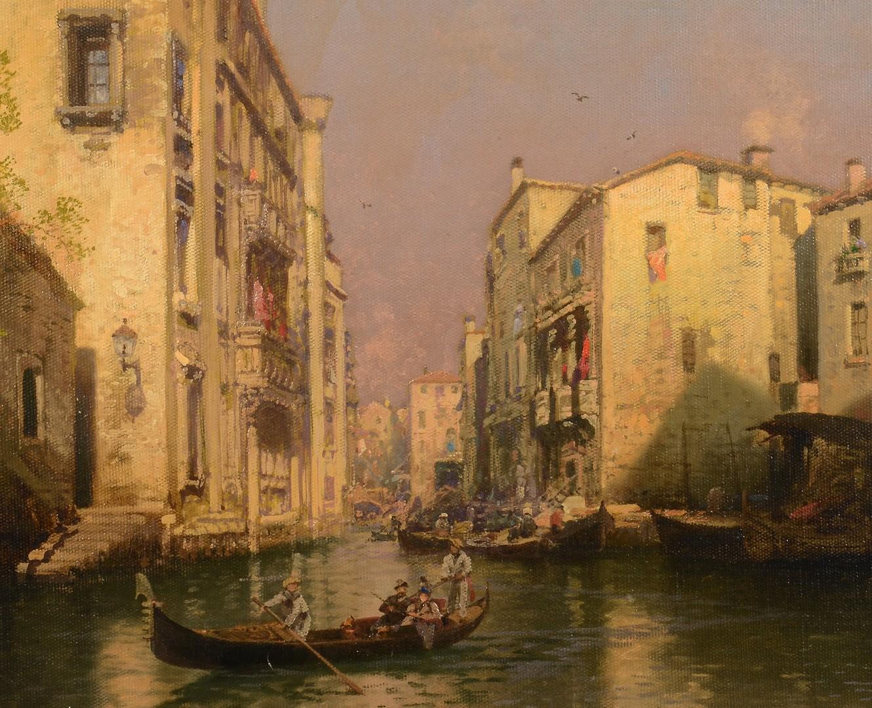 Lot 193: Hermann Herzog Venetian Oil on Canvas
