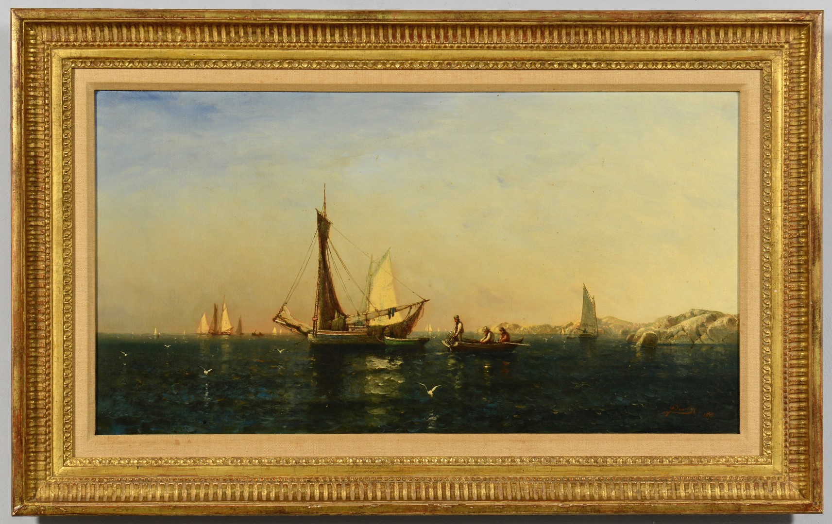 Lot 194: Arthur Quartley Oil on Canvas, A Summer Afternoon