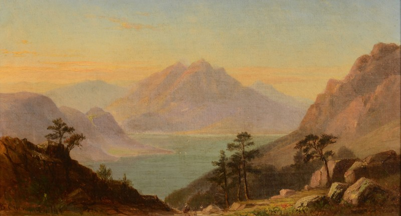 Lot 196: Benjamin Champney Oil on Canvas Landscape