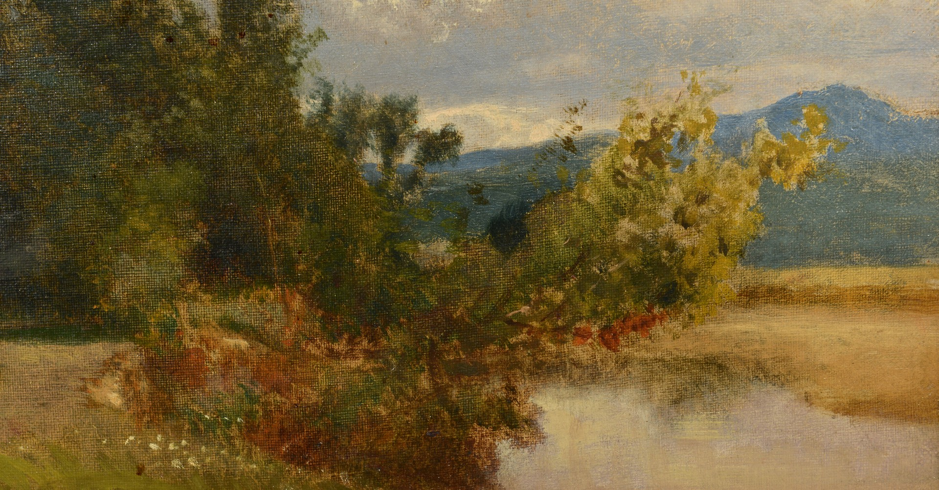 Lot 197: William M. Hart Oil on Canvas Landscape