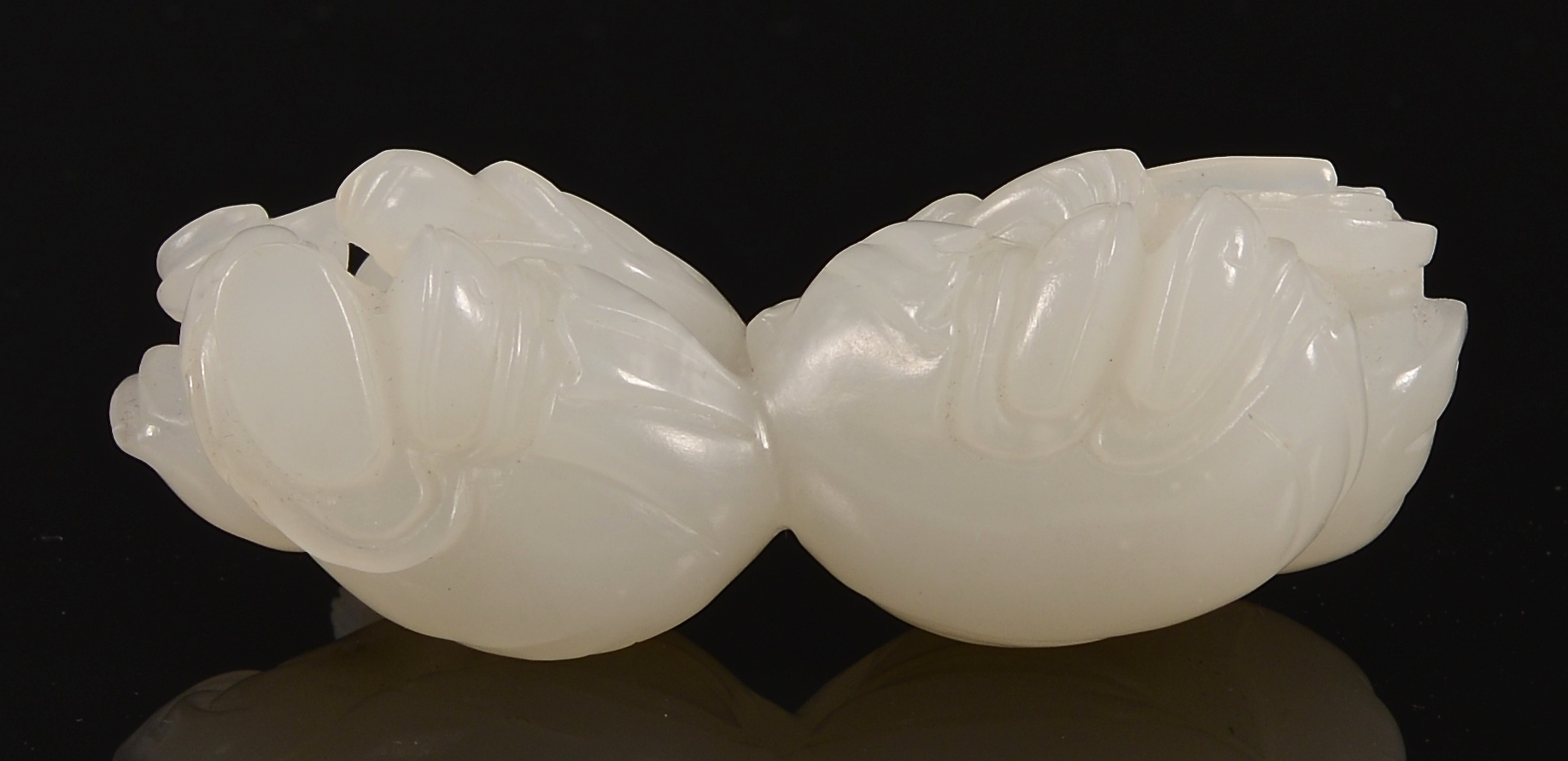 Lot 1: Chinese White Jade Figural Group, 2 boys