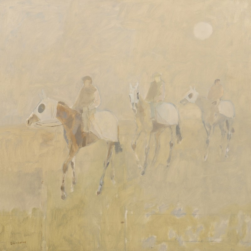 Lot 209: Basil Blackshaw oil on canvas, 3 Riders