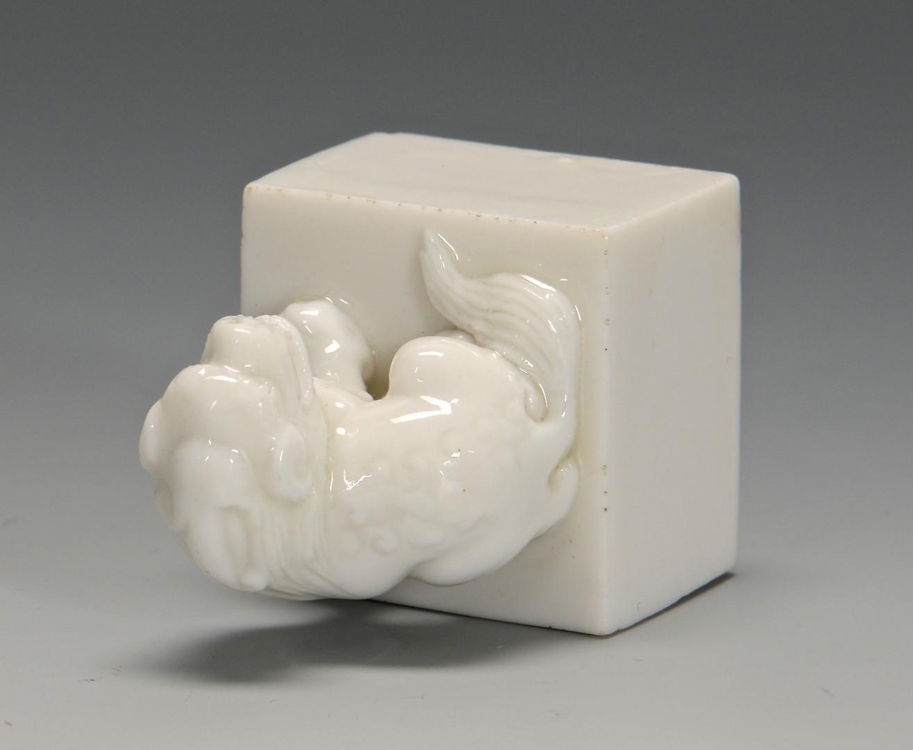 Lot 20: Ming Figural Dehua Ware Seal