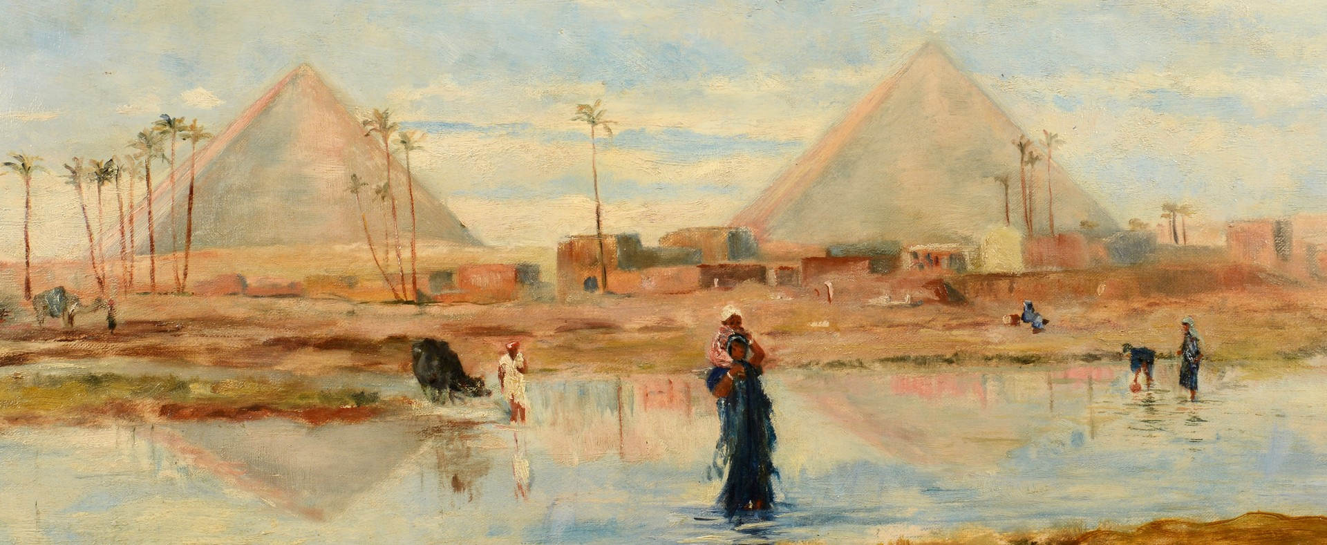 Lot 211: Frederick Goodall Orientalist Oil on Canvas
