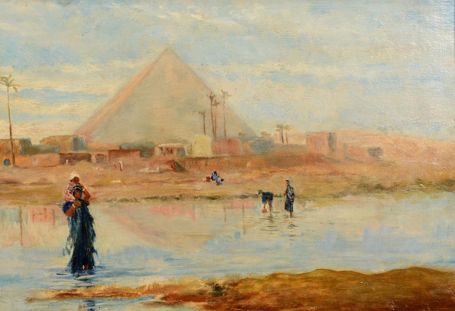 Lot 211: Frederick Goodall Orientalist Oil on Canvas