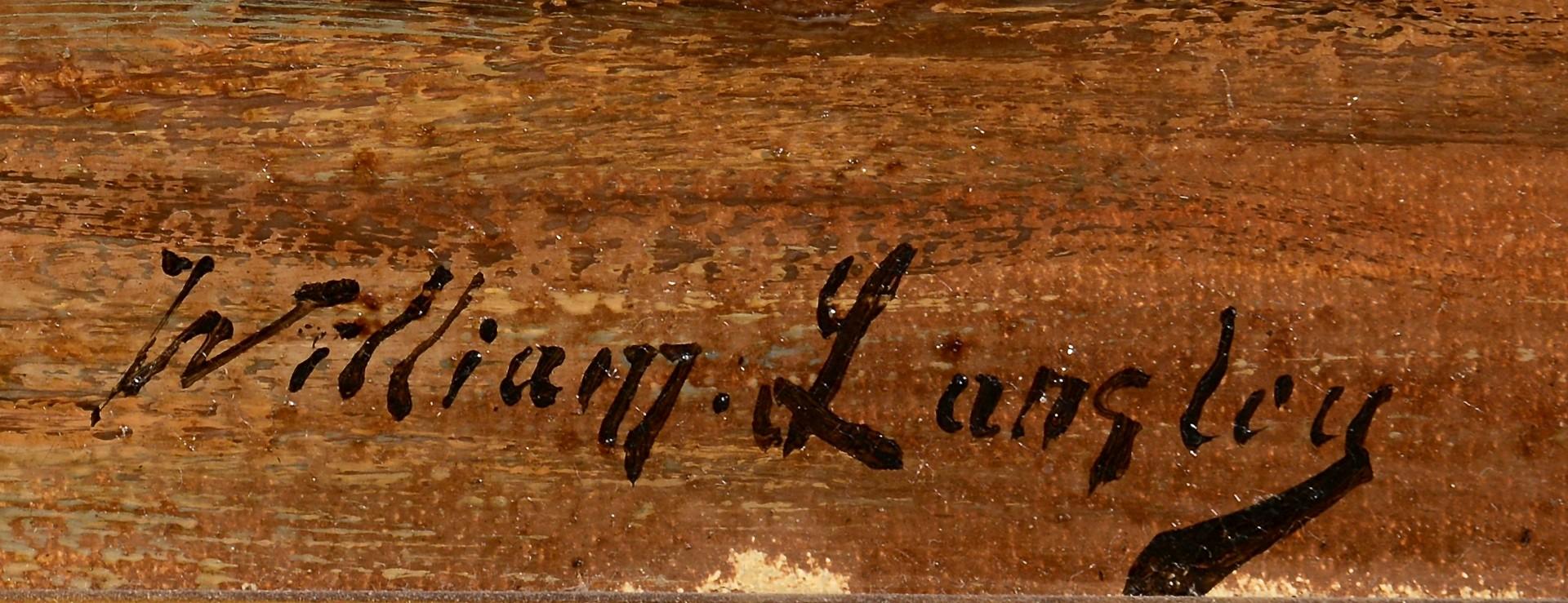 Lot 214: William Langley Seascape, Ship In Harbor