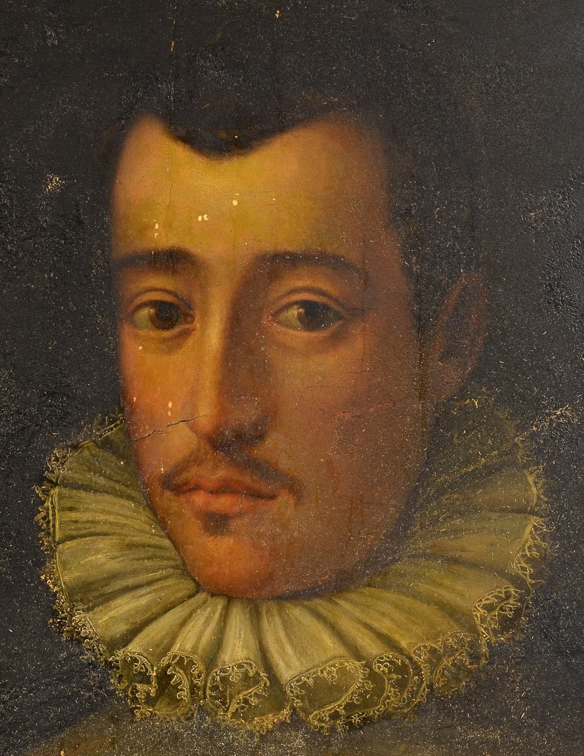 Lot 218: 16th Century Florentine Oil Portrait, Medici