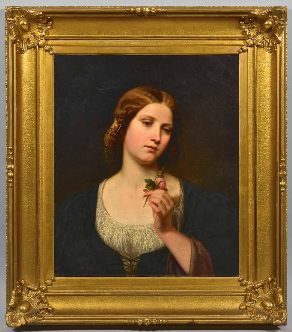 Lot 220: Julius Schrader, Portrait of a Woman