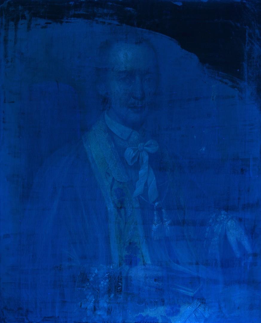 Lot 221: 18th Cent. Oil on Canvas Portrait of Clergyman