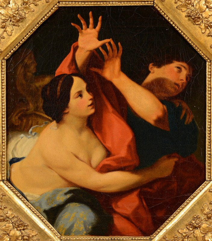 Lot 222: Joseph & Potiphar Oil, After Cignani