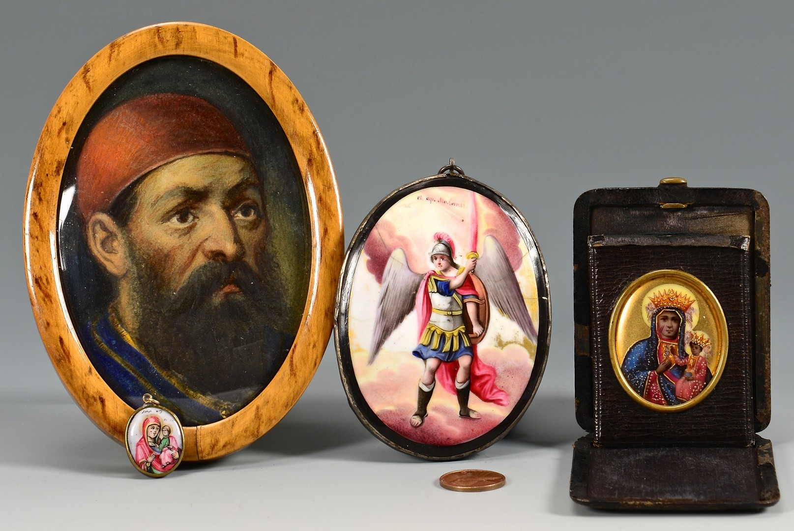 Lot 224: 4 Religious Portrait Miniatures