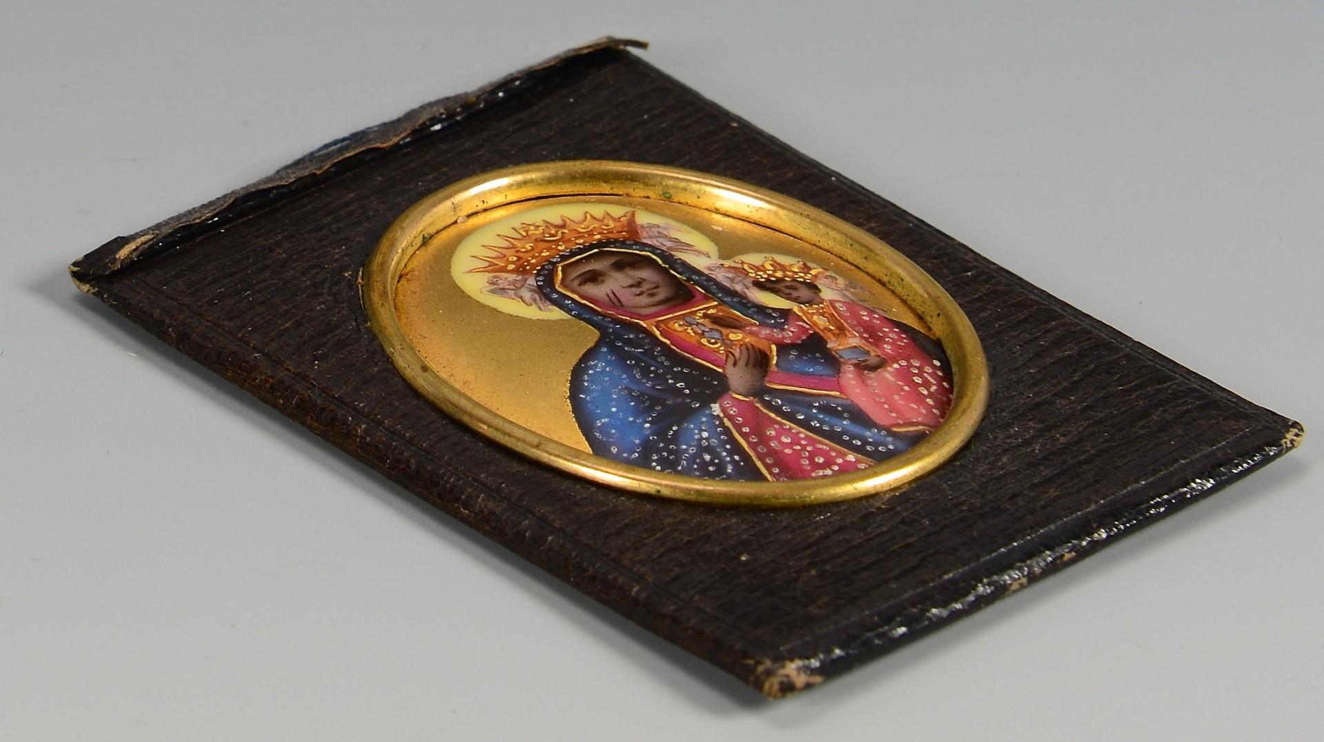 Lot 224: 4 Religious Portrait Miniatures