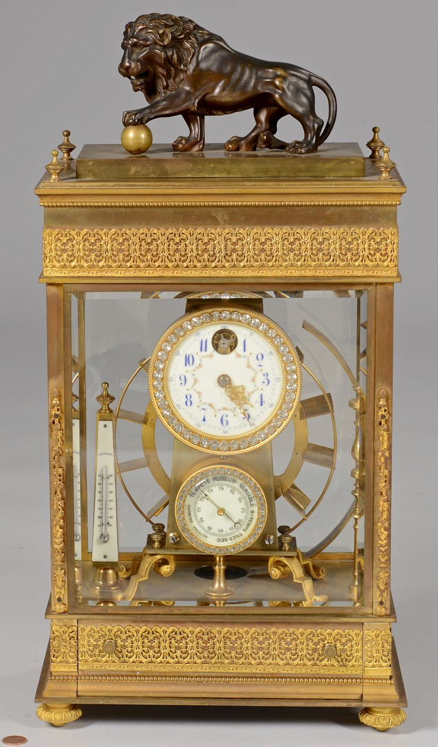 Lot 228: French Gilt Bronze Falling Ball Mantle Clock