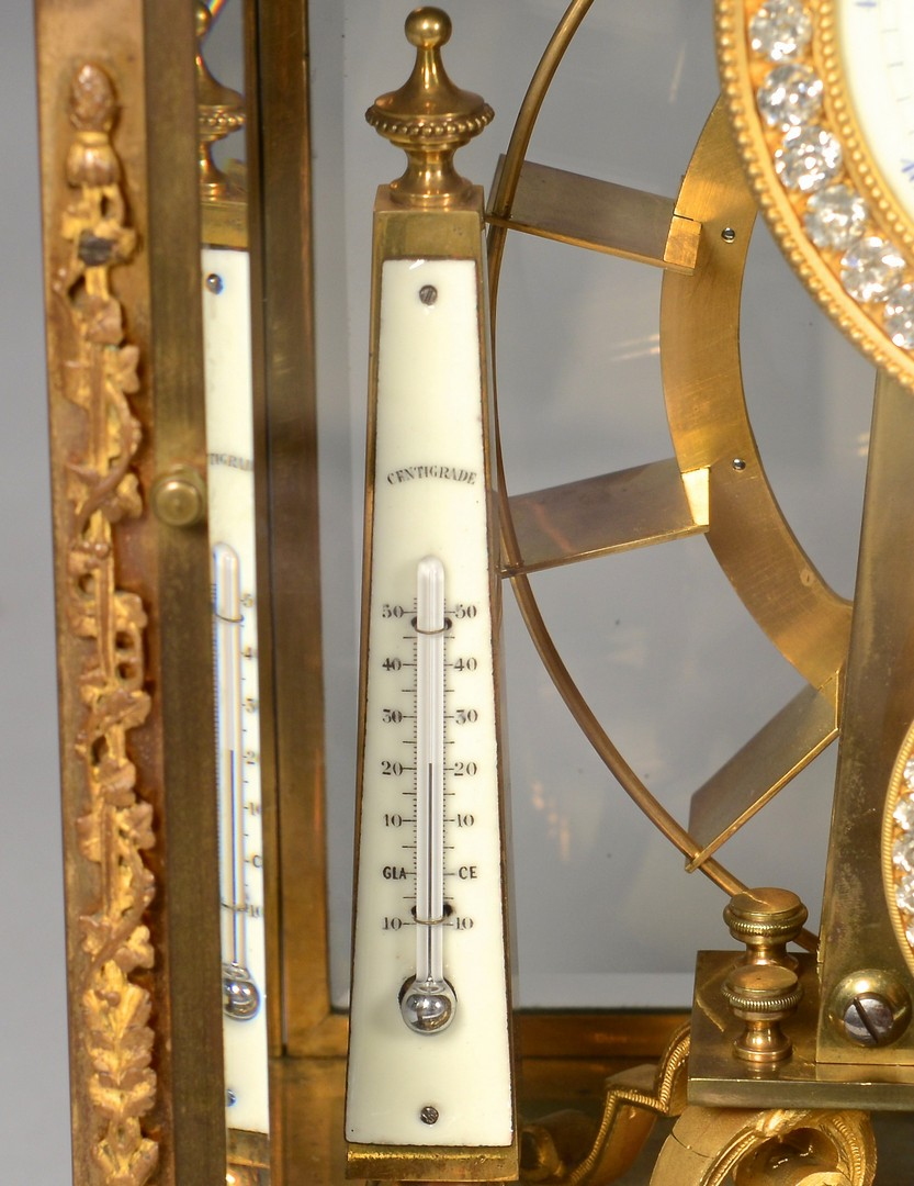 Lot 228: French Gilt Bronze Falling Ball Mantle Clock