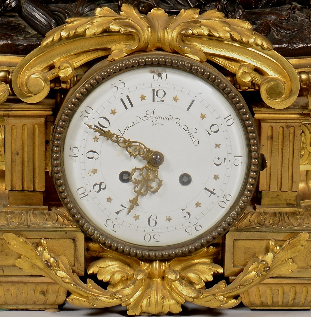 Lot 229: Large French Bronze Figural Clock, Deniere A Paris