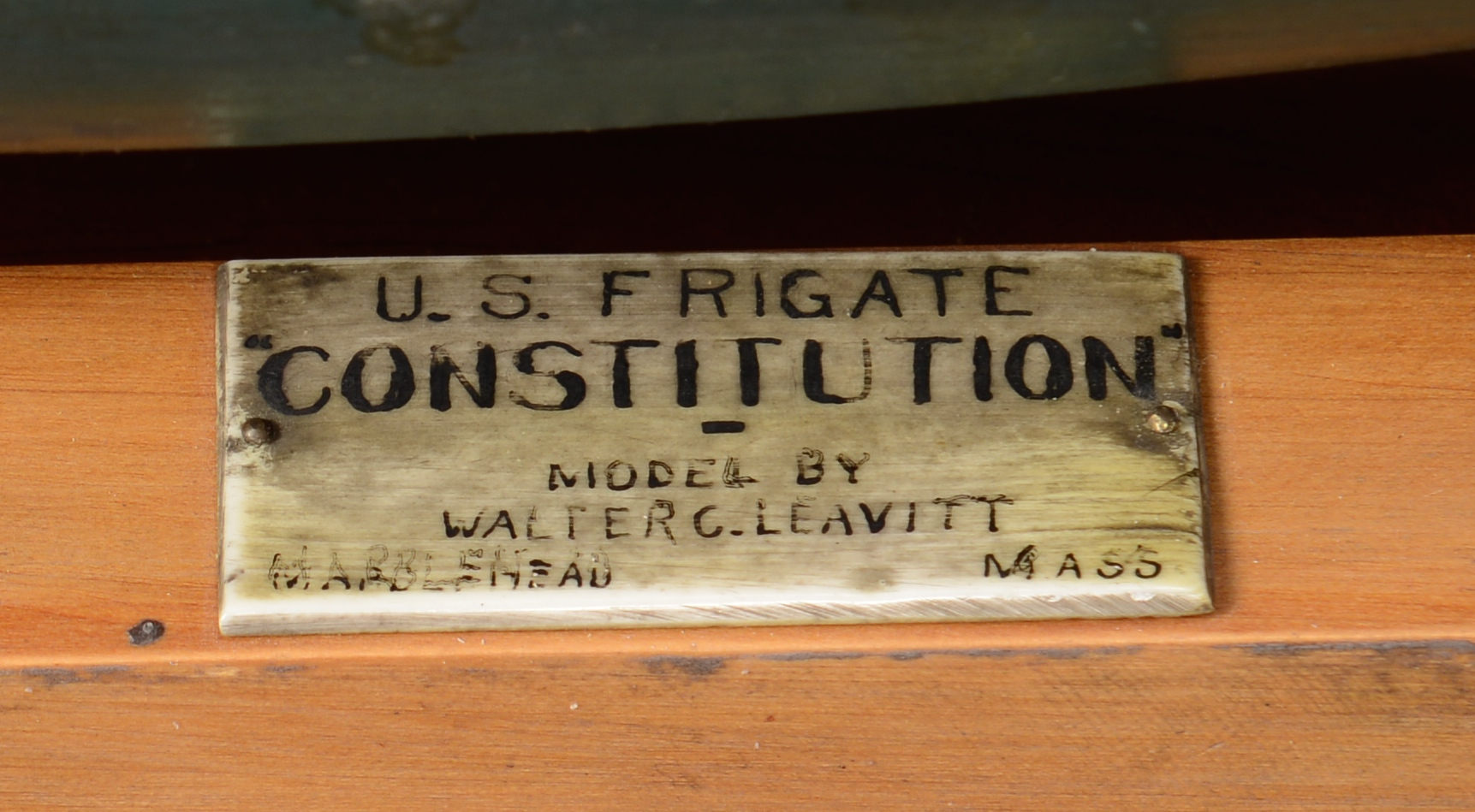 Lot 232: Cased Model, U.S.S. Constitution by Walter C. Leav