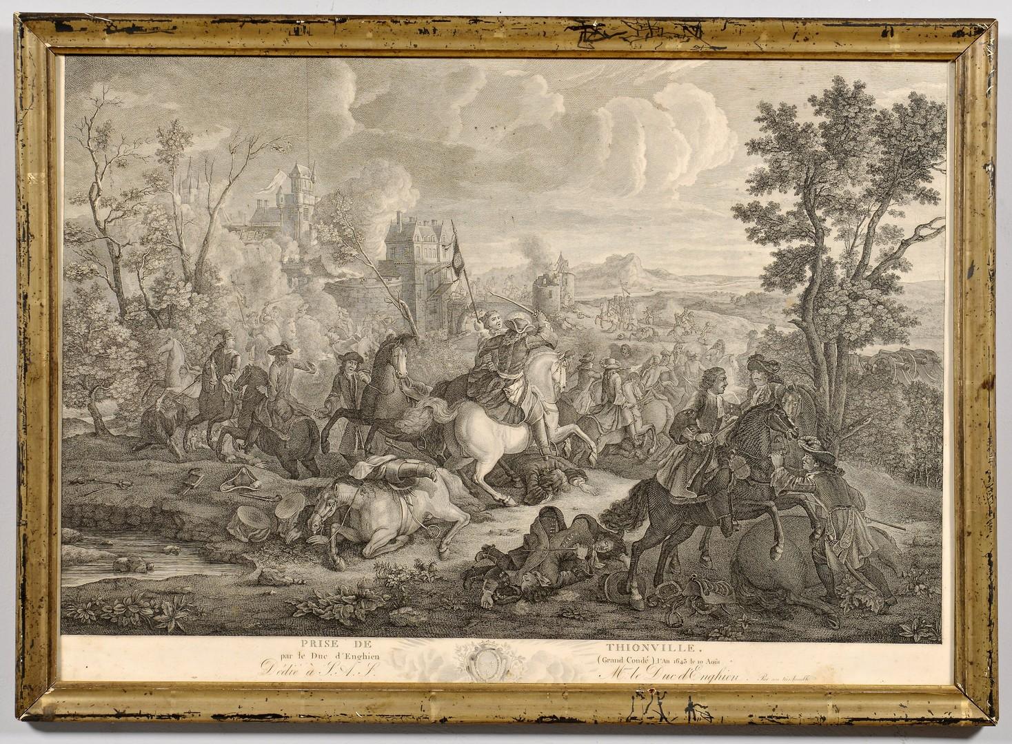 Lot 236: French Battle Scene Engraving, Prise de Thionville