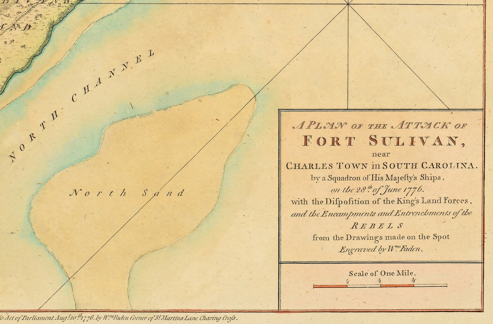 Lot 237: Wm. Faden Revolutionary War Map 1776