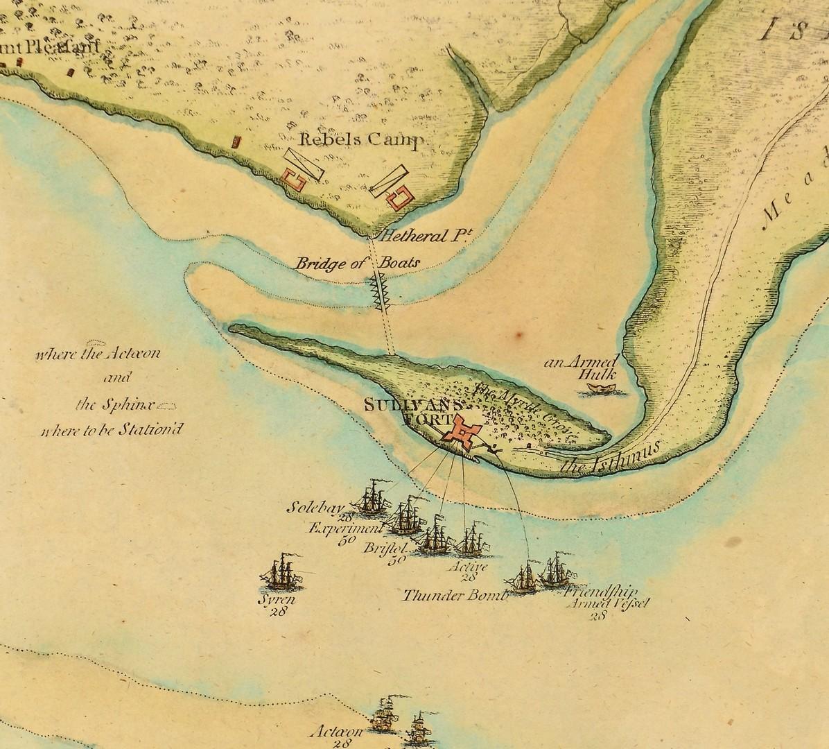 Lot 237: Wm. Faden Revolutionary War Map 1776