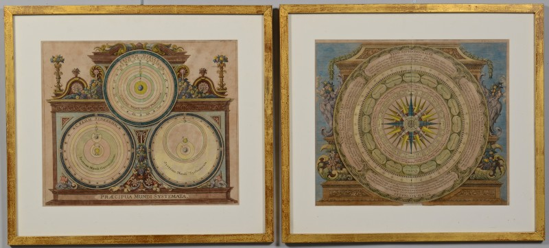 Lot 240: Pair of Baroque Astronomical Charts, Johann Zahn