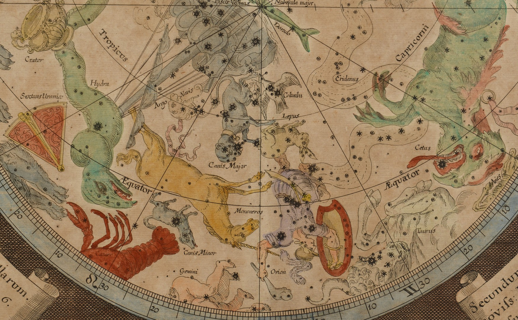 Lot 241: Pair of Baroque Celestial Maps, Johann Zahn