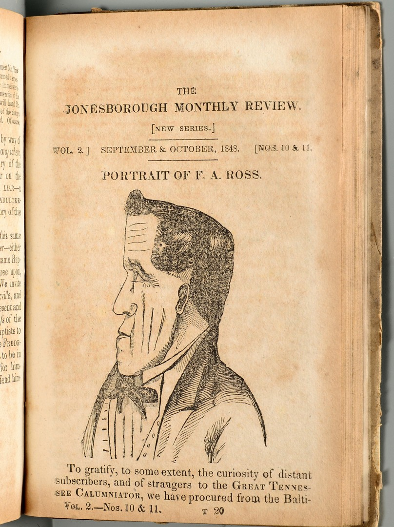 Lot 249: Jonesborough Monthly Review, 1847