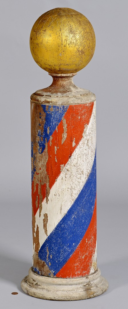 Lot 255: 19th Century Painted Barber Pole