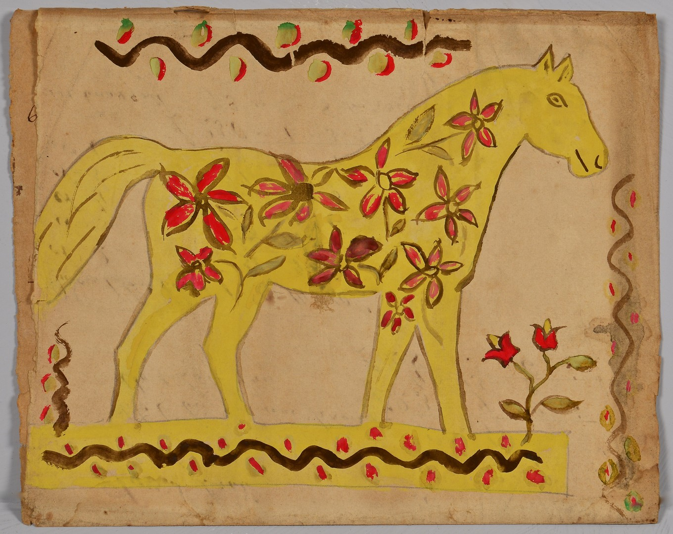 Lot 257: 3 Fraktur Watercolors, attrib. TN