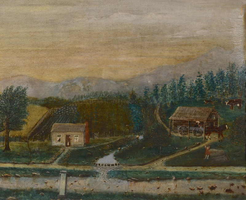 Lot 258: TN Folk Landscape Painting, L. Hording