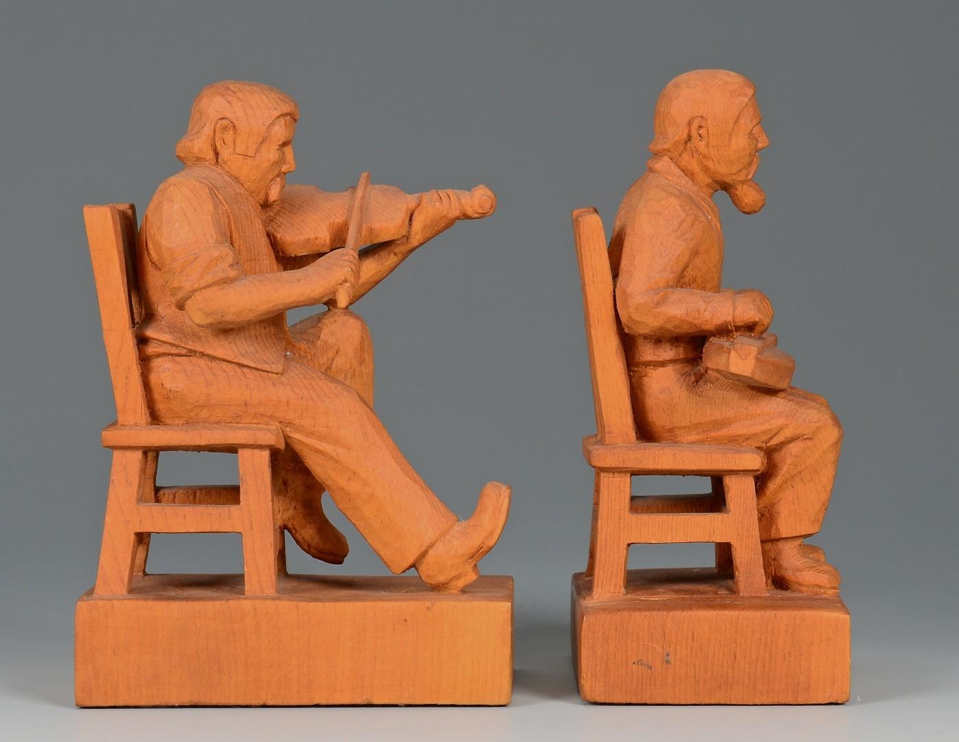 Lot 259: East TN Jack Eichbaum Carvings