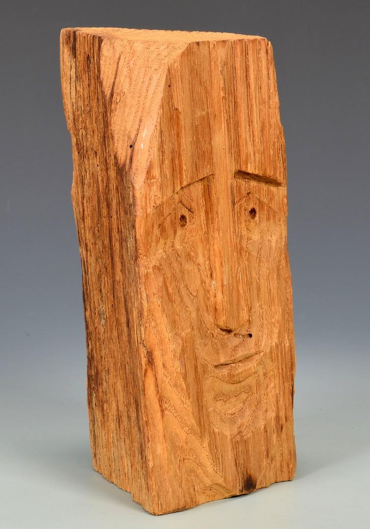 Lot 260: 2 Helen Bullard Folk Art Carved Heads