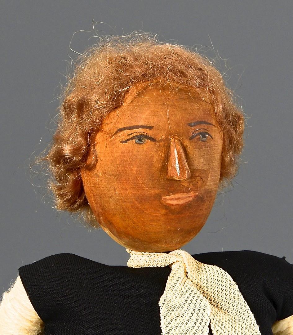 Lot 261: Helen Bullard Folk Art Carved Doll