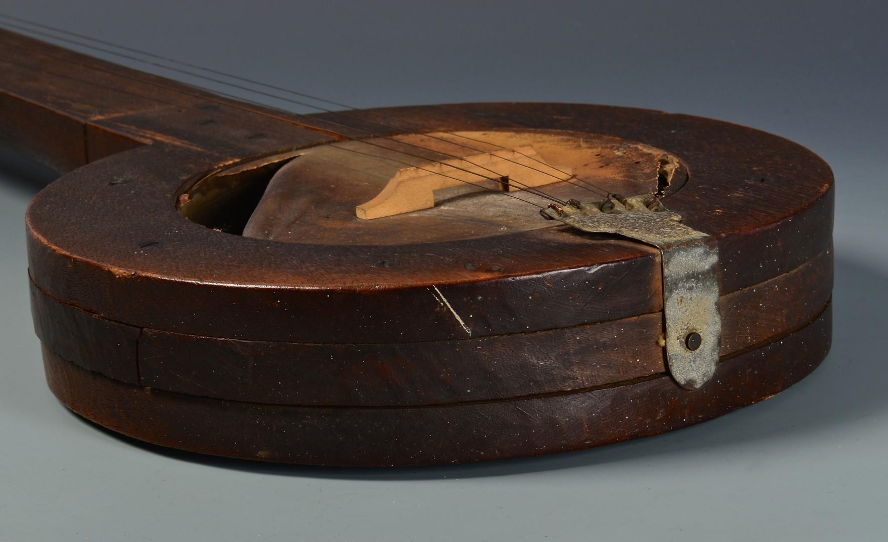 Lot 262: Early 20th Cent. East TN Folk Art Banjo