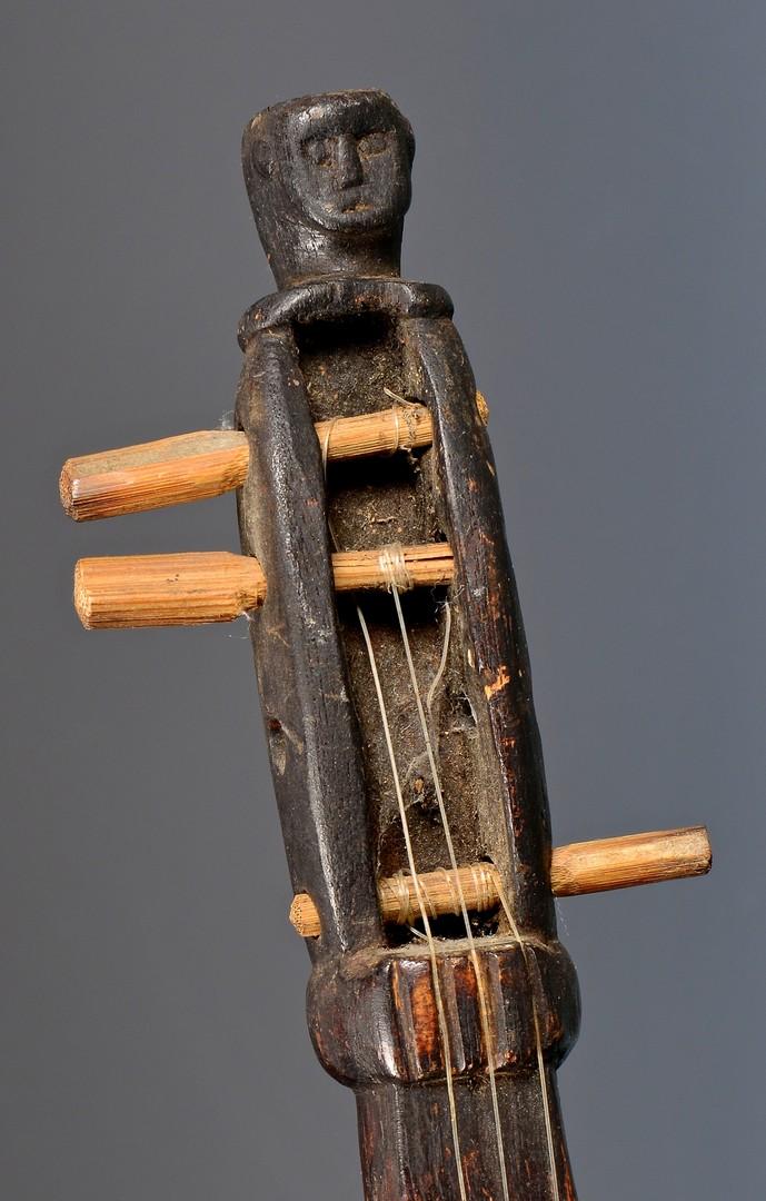 Lot 263: Folk Art Figural Fiddle