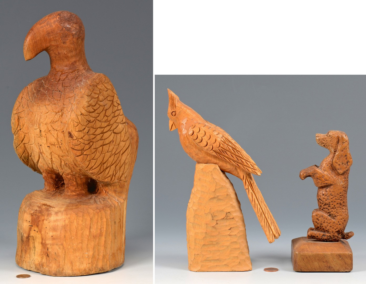 Lot 264: 3 Carvings attr. Clarence Stringfield